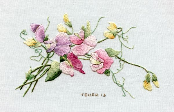 sweet pea embroidery # 33