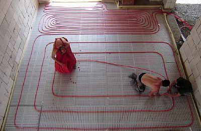 Foto - Installation av värmeelement