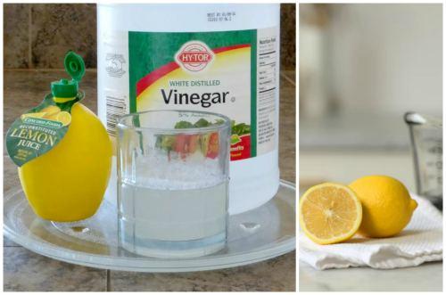 Zitrone, Zitronensäure, Essig