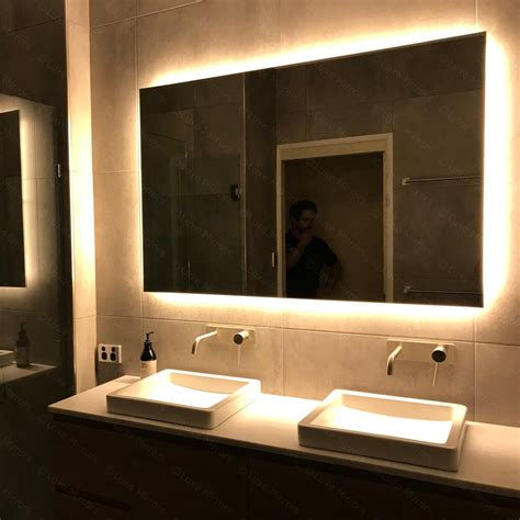 backlit bathroom mirror led light luxe mirrors