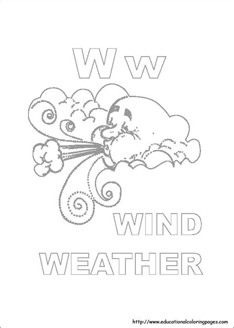 weather coloring pages free kids
