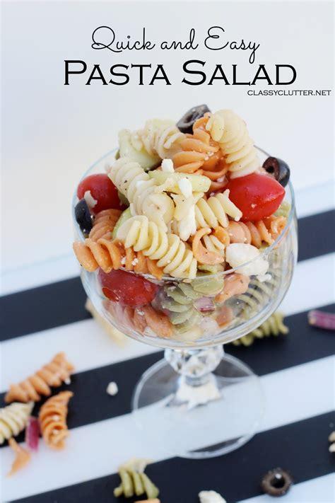 quick easy pasta salad recipe