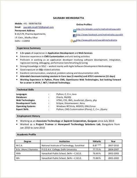fresher resume format java 2020 resume format