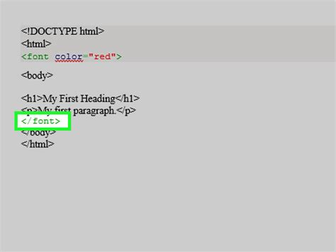 3 ways font color tags html wikihow