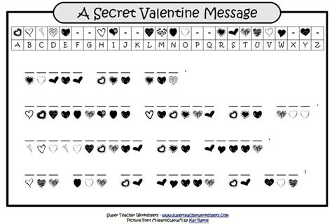 happy valentine day super teacher worksheets cryptogram students