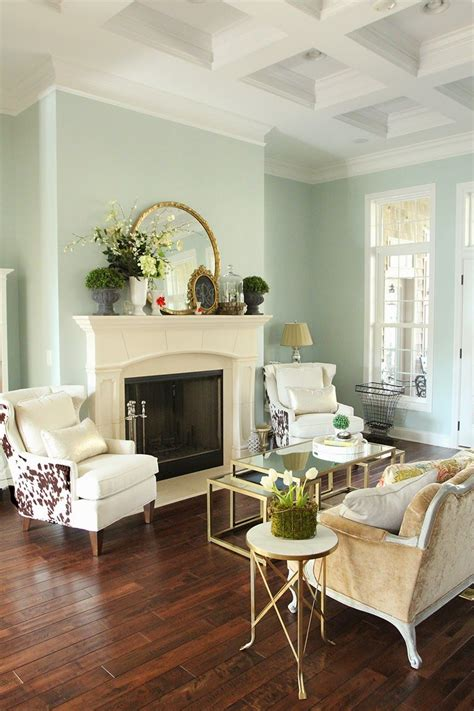 easy spring decorating wall color sherwin william rainwashed