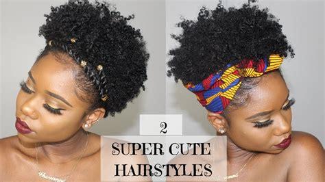super cute easy hairstyles short natural hair 4b