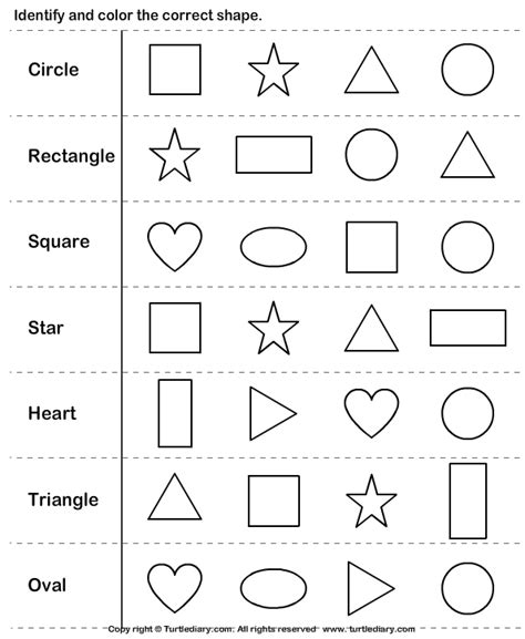 identify shapes shapes worksheet kindergarten shapes kindergarten shapes