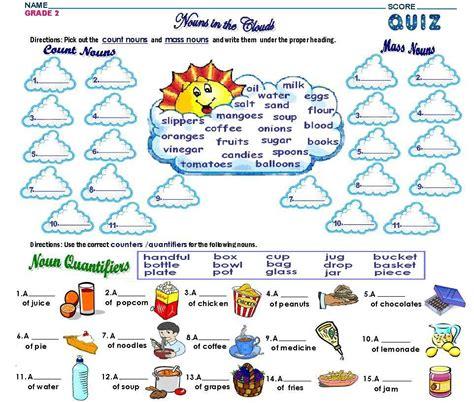 grade2 count mass nouns worksheet free math worksheets