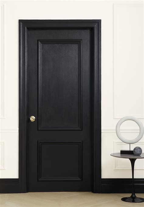 door painted clare trim paint blackest edgy dramatic
