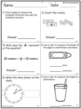 grade year common core math assessment berry creative