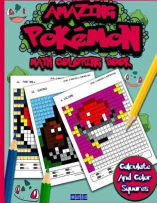 amazing pokemon math cool math activity book pokemon