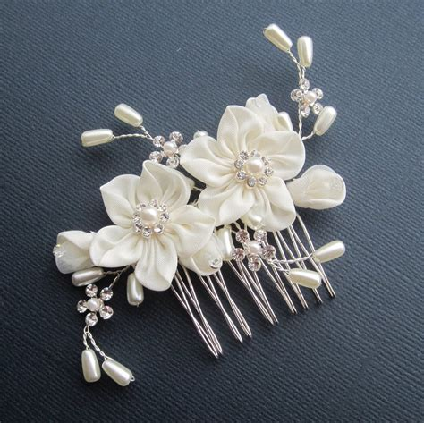 flower bridal comb grace hair comb bridal hair