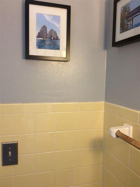 yellow bathroom tile grey walls house pinterest grey