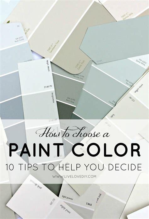 choose paint color 10 tips decide livelovediy paint