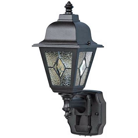 Classic Cottage Black Motion Sensor Outdoor Wall Light H6925 Ls Plus.html