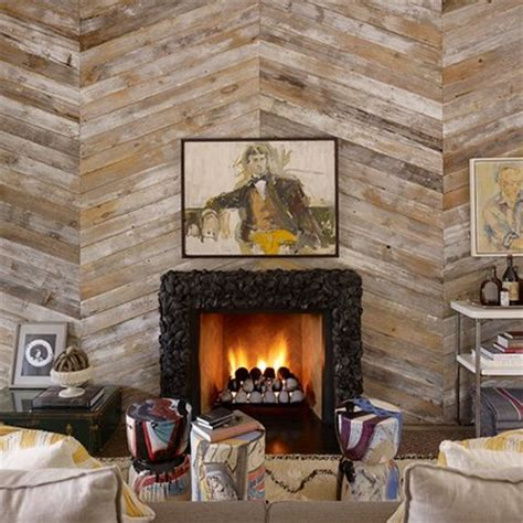 home dzine home diy reclaimed wood fireplace surround