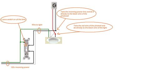 install photocell outdoor light sensor wiring diagram