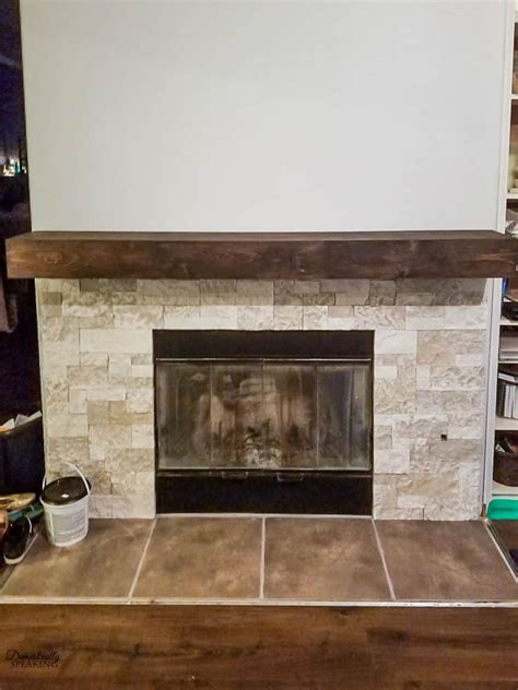 build rustic fireplace mantel domestically speaking