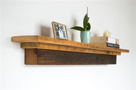 barn wood beam fireplace mantel rustic floating shelf