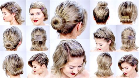 11 super easy hairstyles bobby pins short hair