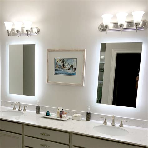 side lighted led bathroom vanity mirror 36 40