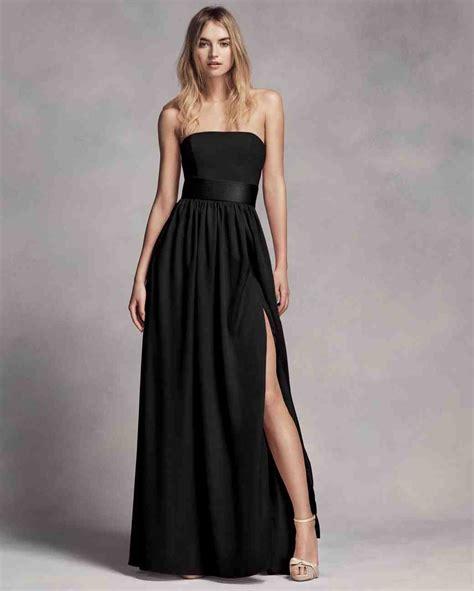 chic black bridesmaid dresses martha stewart weddings