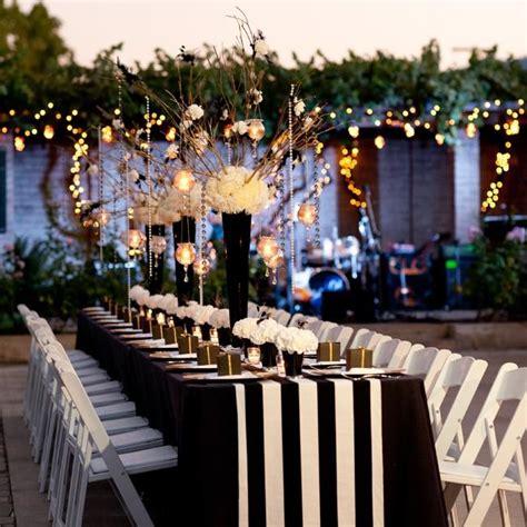 sleek sophisticated black white wedding reception ideas weddbook