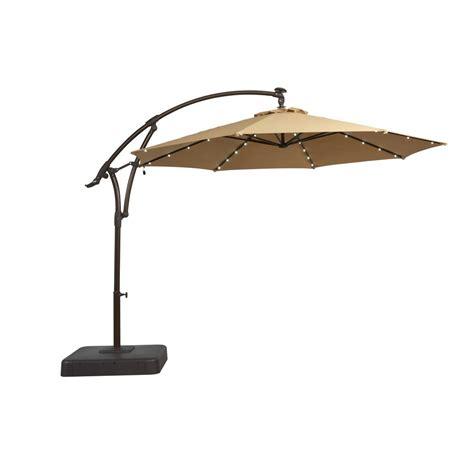 hton bay 11 ft solar offset patio umbrella