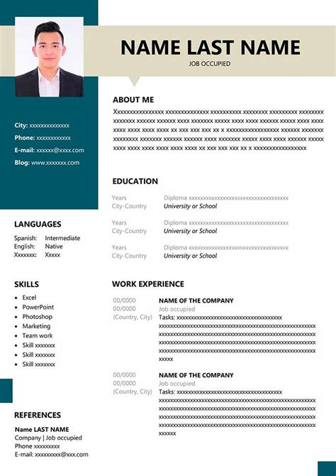 resume format fresher ms word free download