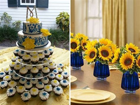 inspirations blue yellow wedding colors wedding colors