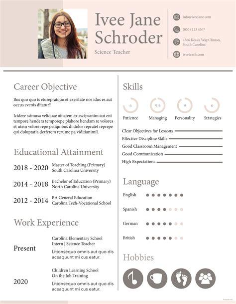 free fresher school teacher resume format teacher resume