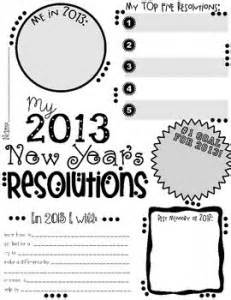 2013 year resolution activity poster freebie 24 7