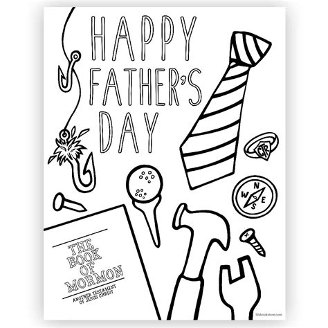 happy father day coloring page printable