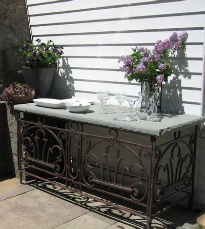 1920s grill inspires patinated patio