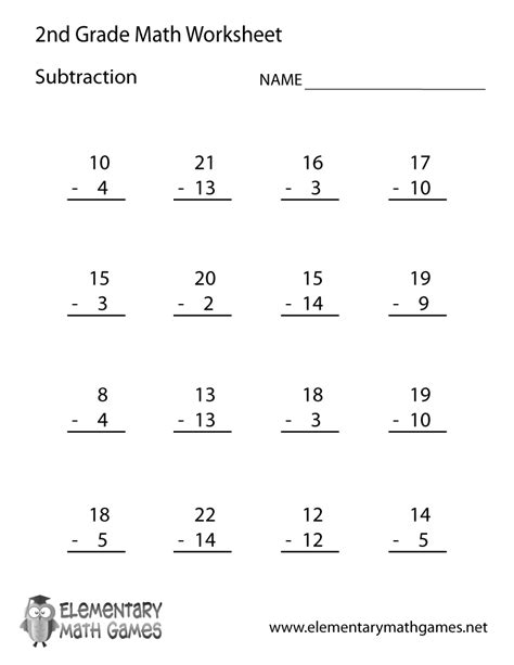 Printable Subtraction Worksheets For 2nd Graders.html