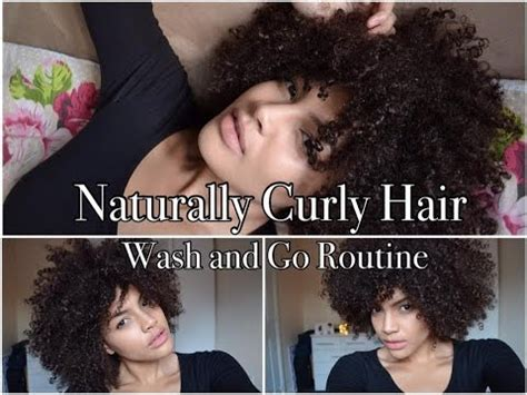 naturally curly hair wash routine youtube