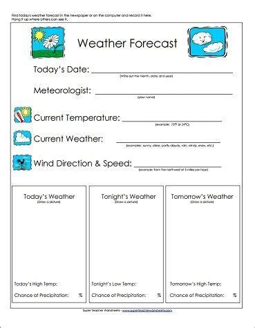 weather forecast worksheet great