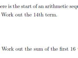 nth term sum arithmetic sequence worksheet solutions teaching