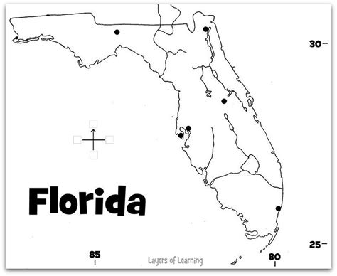 state maps florida state map social studies