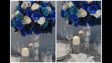 tall wedding centerpiece diy create tall blue beauty