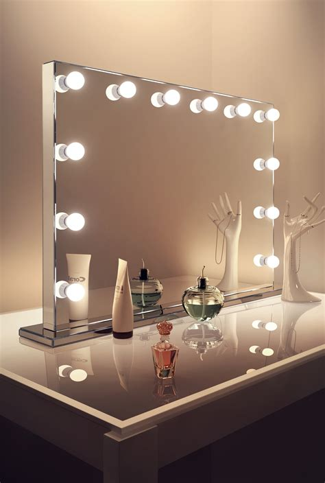 mirror finish hollywood makeup mirror warm white dimmable