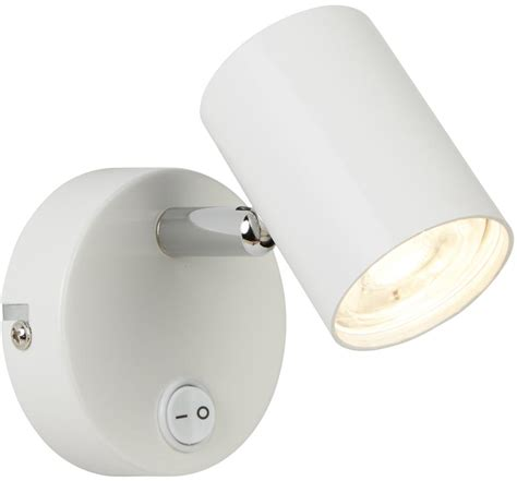rollo white switched 1 light led wall mounted