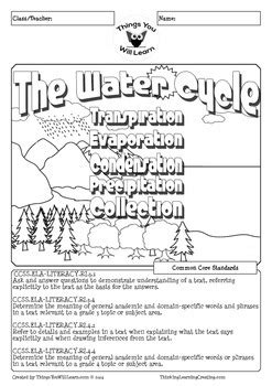 water cycle reading activity pack learn tpt