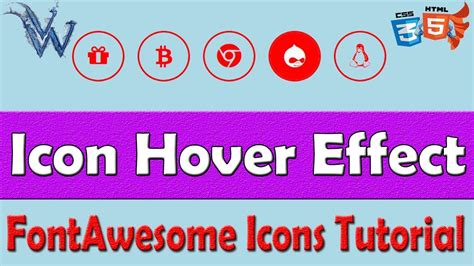css icon hover effect color change font awesome