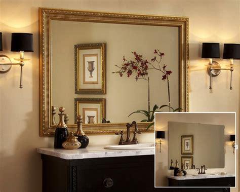 framed bathroom mirror home design ideas pictures remodel