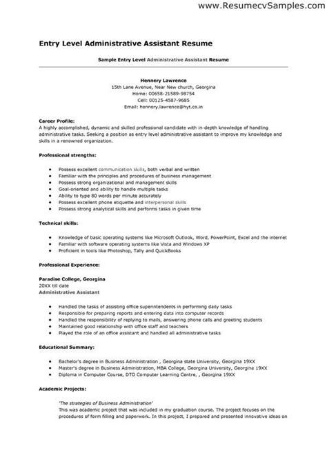 sle entry level medical assistant resume templates administrative