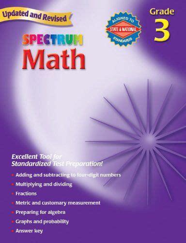 spectrum math grade 3 thomas richards 0769636934 9780769636931