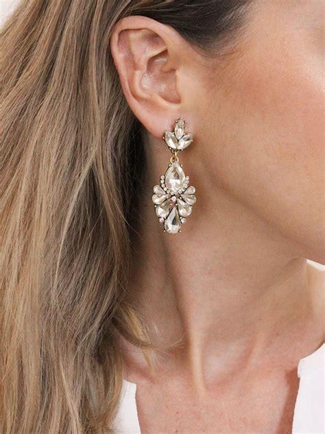 dakota drops wedding earrings drop wedding jewelry gold