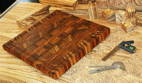 hand zebrawood grain cutting board carolina wood designs
